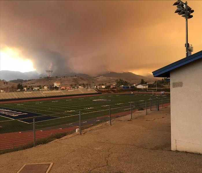 Holy Fire in Lake Elsinore, CA