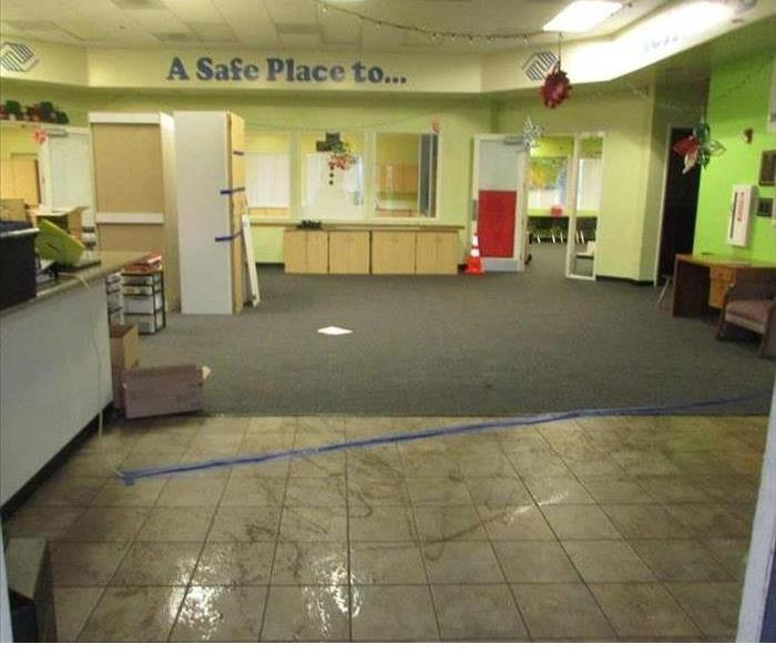 Water Loss at Boys and Girls Club in lobby area it is all wet